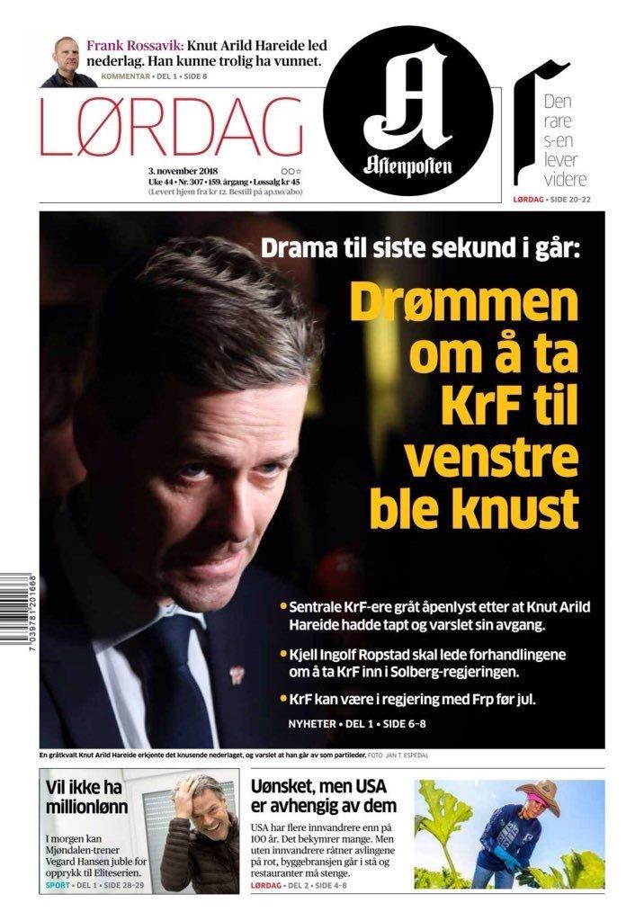 """Avisene om Kristelig Folkeparti og Hareide """"dagen derpå"""" 4"""