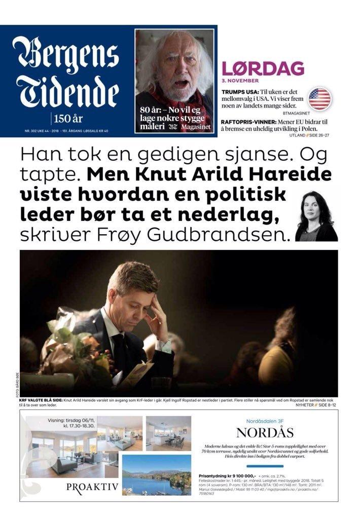 """Avisene om Kristelig Folkeparti og Hareide """"dagen derpå"""" 1"""