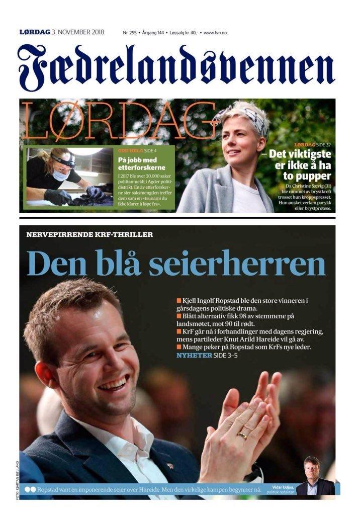 """Avisene om Kristelig Folkeparti og Hareide """"dagen derpå"""" 5"""