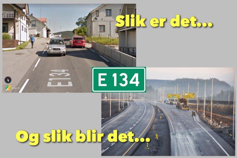Snart blir det 90 km/t gjennom Kongsberg 1