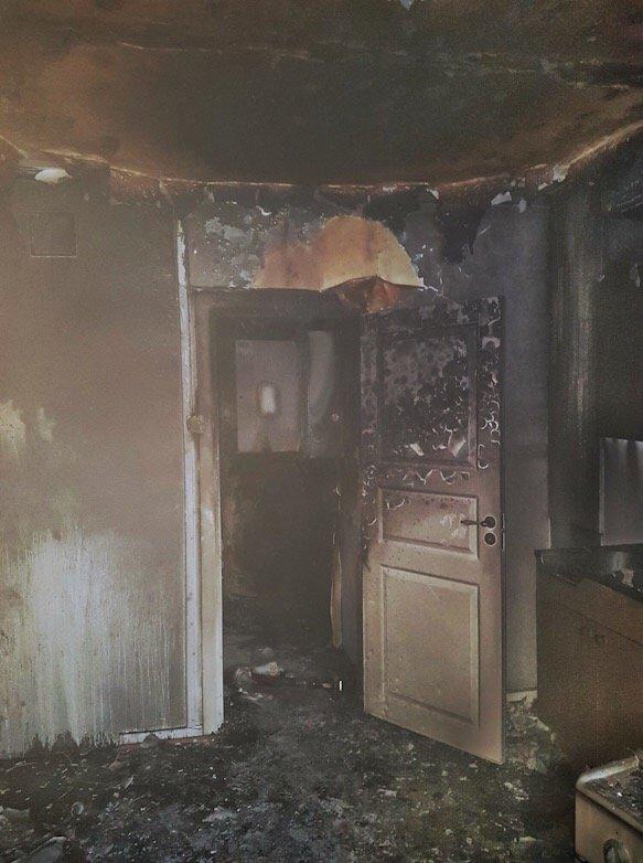 Mjøndalen: Kvinne reddet ut av brennende leilighet i Strandveien 2