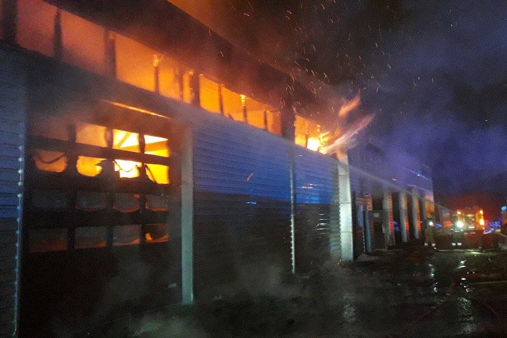 Hokksund: Røyken hadde knapt lagt seg før Bråtens Bilco igjen viste muskler 2