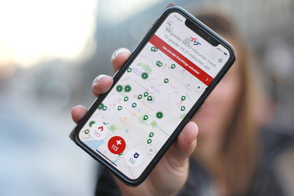 Appen som forteller hvor du er når du ringer et nødnummer 2