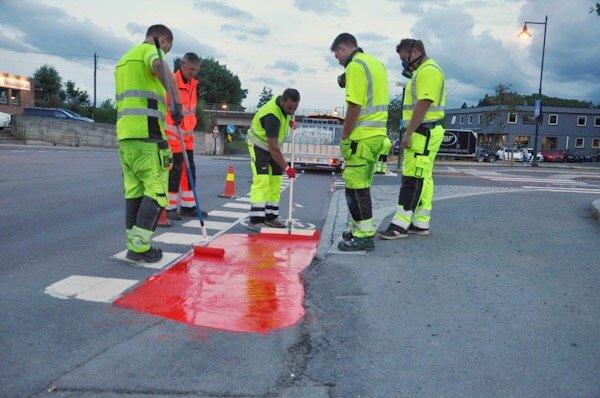 I Drammen og Hønefoss kan du sykle på rødt 3