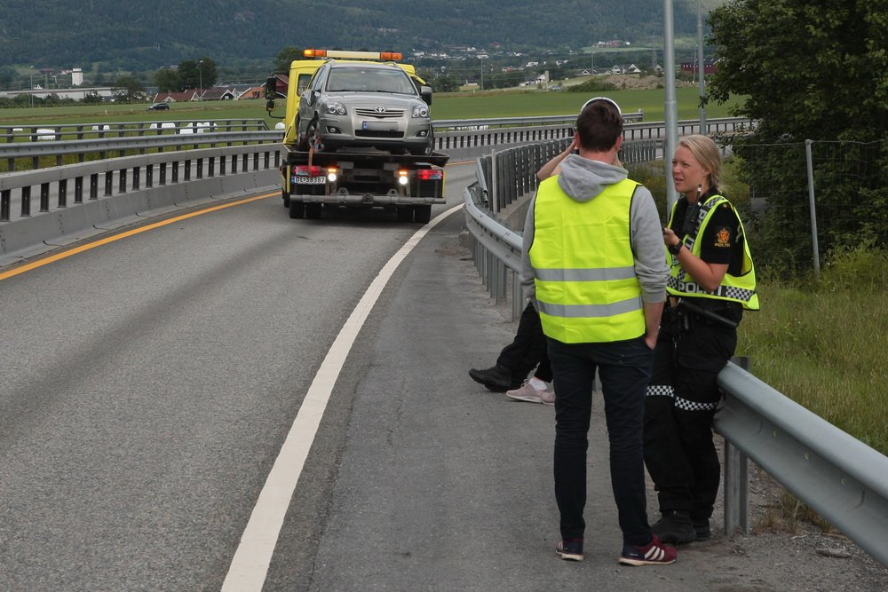 Vestfossen: Antatt ruset bilfører mot kjøreretningen på E134 2