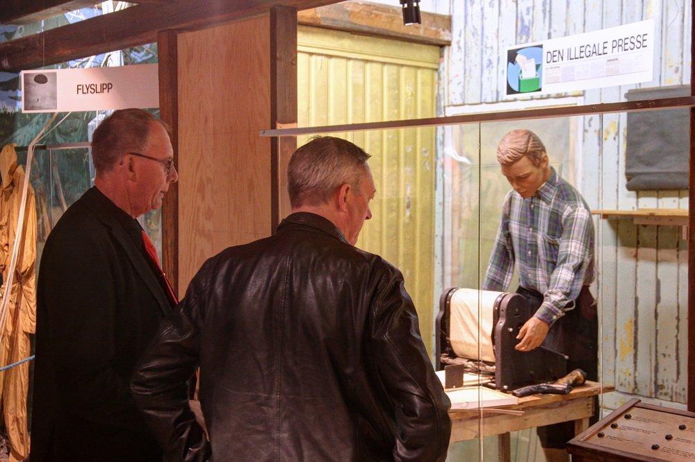 Forsvarsministeren på Fossesholm: Veteran møtte veteraner 1