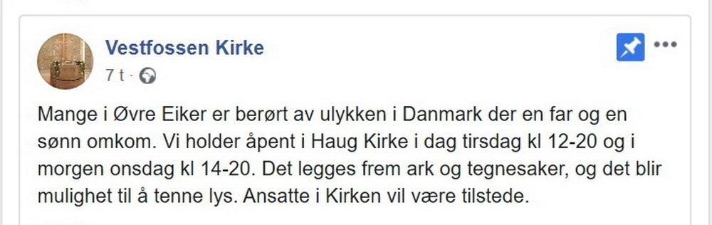 Far og sønn fra Hokksund omkom i togulykken i Danmark 5