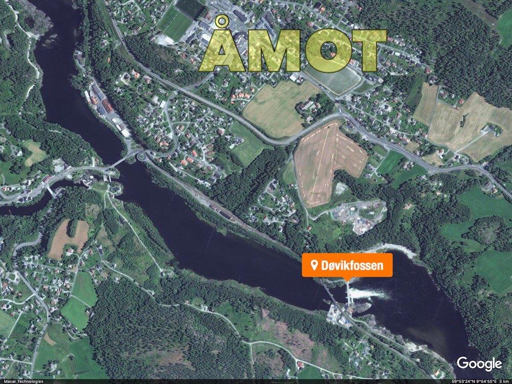 Åmot: Ung mann druknet i Døvikfossen 1