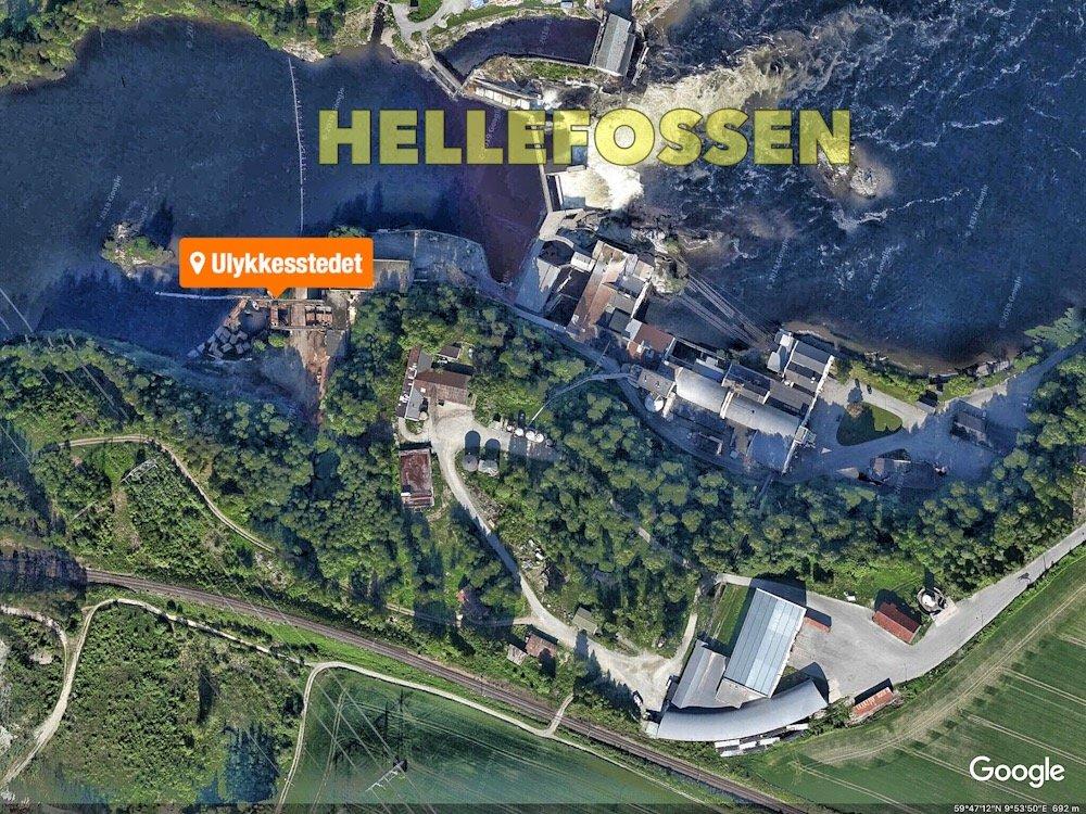 Hokksund: Mann satt fastklemt i kran 22 meter over bakken 4