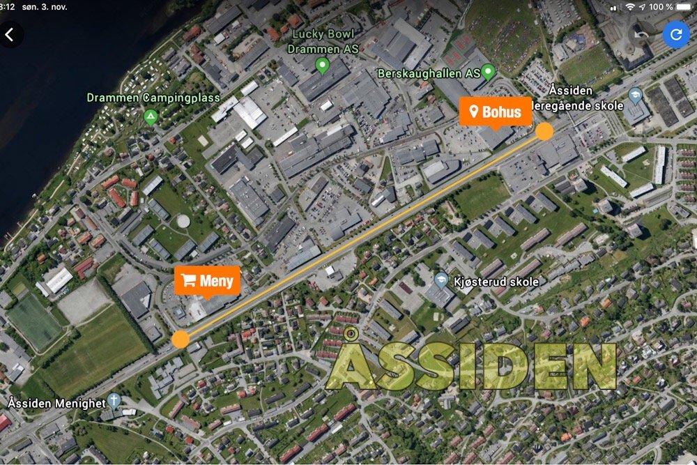 Rosenkrantzgata i Drammen:<br/> 18-åring målt til 170 km/t 1