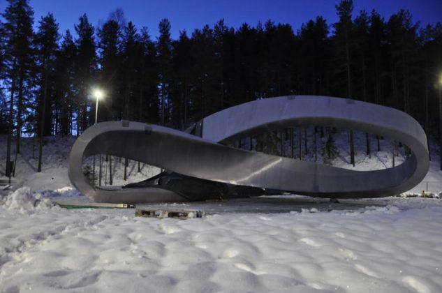Åtte tonns kunstverk fra Hokksund til Kongsberg 5