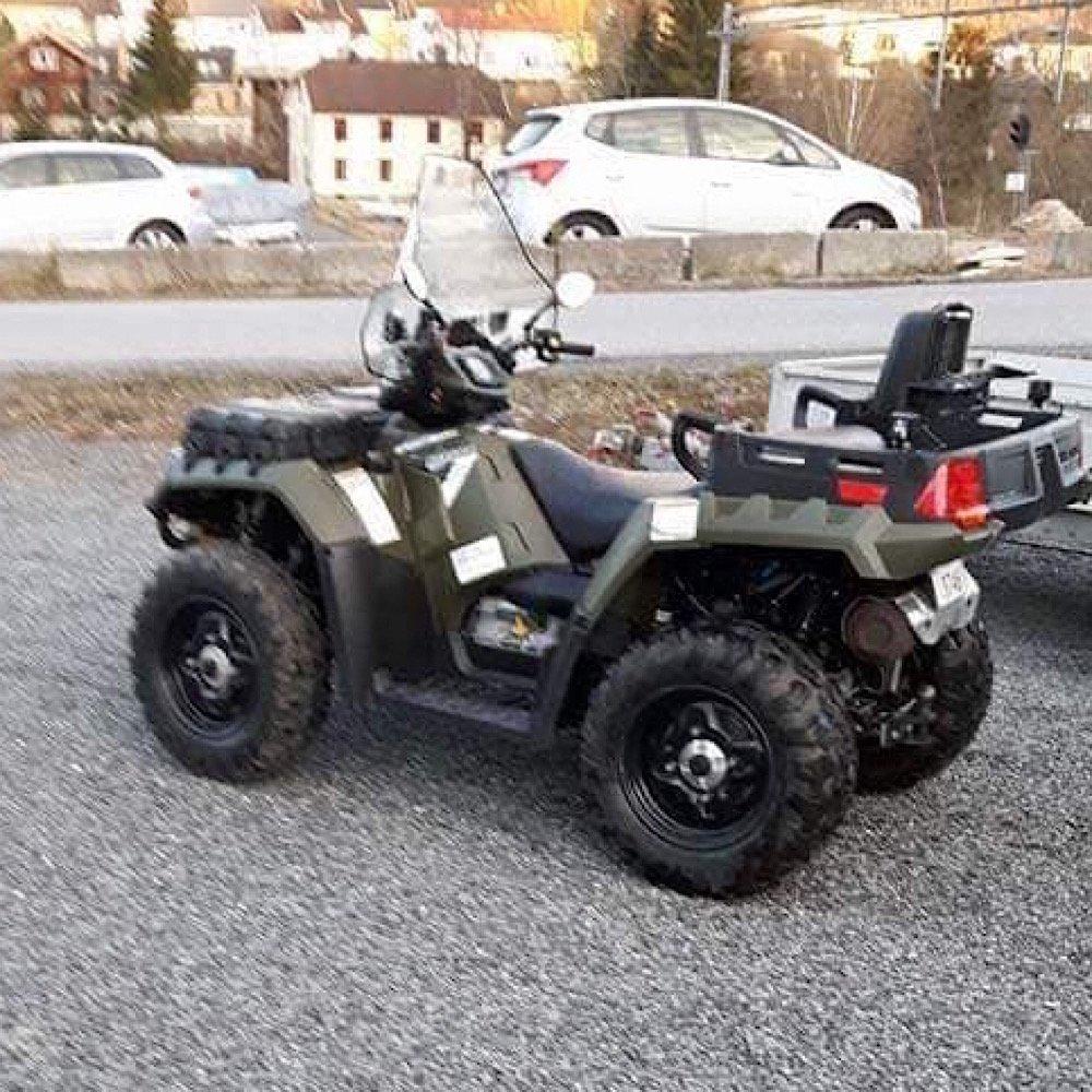 Stjålet: Har du sett Øvre Eiker Røde Kors´ Toyota Hiace eller ATV? 1