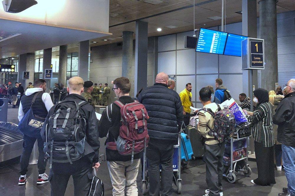 Heimevernet bistår Oslo lufthavn med passasjerkontroll og koronatiltak 2